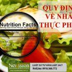 Quy định về nhãn thực phẩm