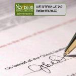 Xử phạt hành vi giả mạo chữ ký