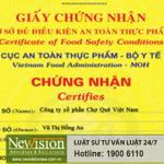 Newvision Law xin cấp thành công Giấy chứng nhận cơ sở đủ điều kiện sản xuất phụ gia thực phẩm cho CTCP Chợ Quê Việt Nam