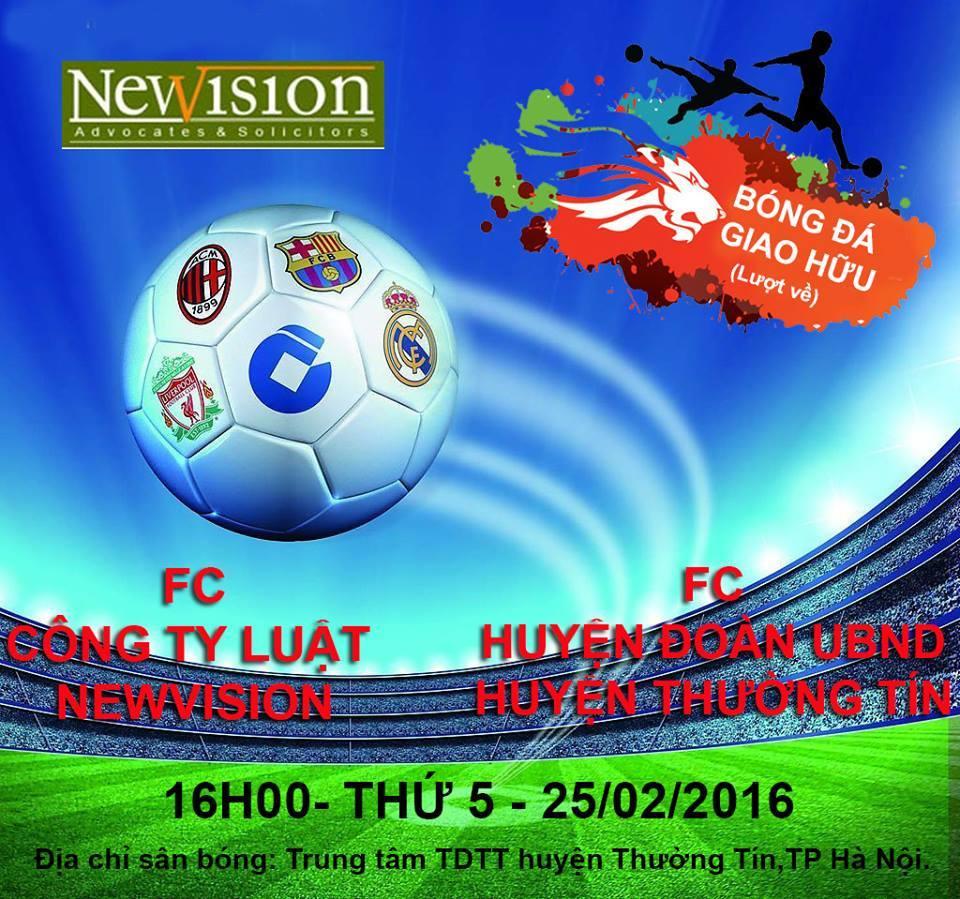 Giao hữu bóng đá giữa Công ty Luật Newvision và Công ty Luật Sao Việt