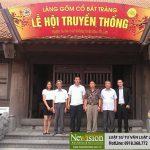 Luật sư Tuấn làm việc với đại diện BQL Làng Nghề Gốm Bát Tràng
