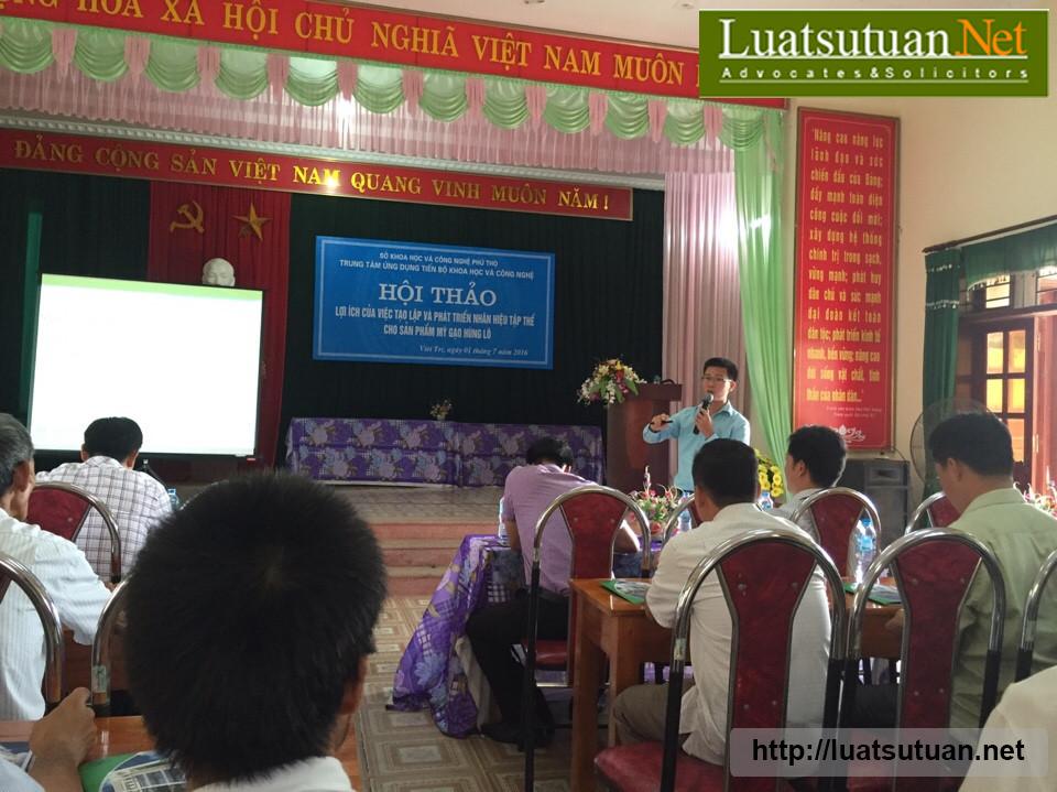 Thuyết trình hội thảo về lợi ích đăng ký nhãn hiệu tập thể Mỳ gạo Hùng Lô