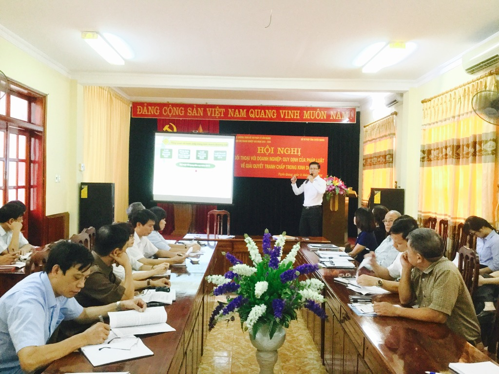 Nội dung bài tham luận của LS Tuấn tại Sở Tư Pháp tỉnh Tuyên Quang