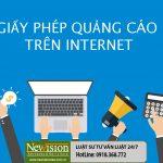 #! Điều kiện trình tự hồ sơ giấy Phép quảng cáo trên Internet