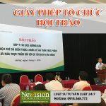 Giấy phép tổ chức hội thảo giới thiệu thực phẩm theo pháp luật!!!