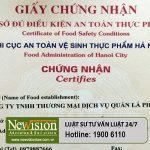 Giấy chứng nhận an toàn thực phẩm cho Nhà hàng Quán lá Phương Anh