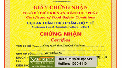 newvision-law-xin-cap-thanh-cong-giay-chung-nhan-co-so-du-dieu-kien-san-xuat-phu-gia-thuc-pham-cho-ctcp-cho-que-viet-nam
