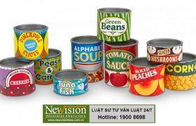 Công bố tiêu chuẩn chất lượng sản phẩm đồ hộp tại Newvision Law