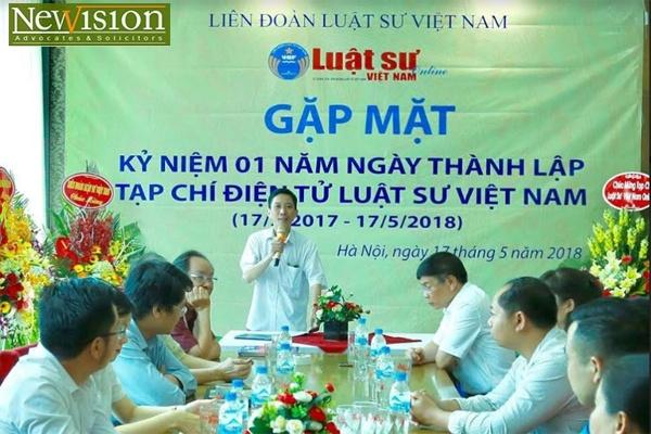 Ths. LS Liêu Chí Trung – Phó Tổng Biên tập Tạp chí điện tử Luật sư Việt Nam phát biểu