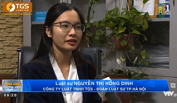 Luật sư Nguyễn Thị Hồng Dinh trả lời câu hỏi của phóng viên về tù tại gia