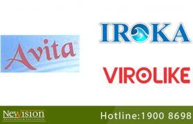NewvisionLaw đại diện đăng ký 3 nhãn hiệu IROKA, AVITA và VIROLIKE